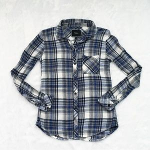 Blue and White Rails Button Down